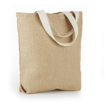 Oversize jute shopping bags put bread sticks,toast