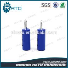 Cadeado de Combinação Tubular de plástico seguro e seguro em azul seguro