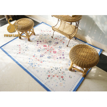 Factory Round dining table floor chenille carpet