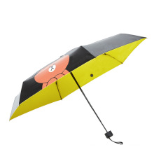 B17 5 fold cartoon bear sun umbrella cell phone umbrella