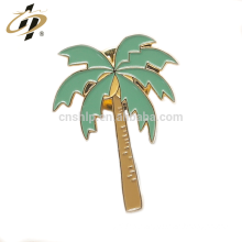 Wholesale metal gold soft enamel custom tree shape holiday lapel pins