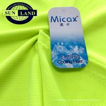 spezielles bird eye dry-fit garn micax feuchtigkeitsableitendes kühlendes sportswear-gewebe