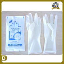 Suprimentos médicos de suprimentos médicos de luvas de látex cirúrgicas