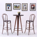 Wooden High Bar Table and Thonet Chair Sets (SP-BT708)