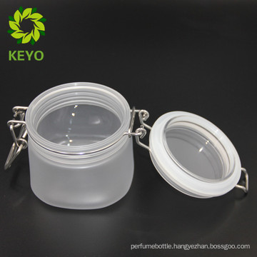 Honey or cream plastic containers frosted square plastic bottles with spout and hinged slid