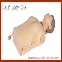 Manequim de CPR de primeiros socorros, manequim de treinamento de RCP de meio corpo