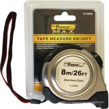 Medición de cinta métrica S / S Metal Case Nylon recubierto Forgemax OEM