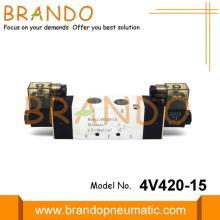 Válvula de solenóide eletromagnética 4V420-15 pneumática