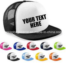 Personalised Custom Printed Half Mesh Baseball Rapper Cap Flat Peak Snapback