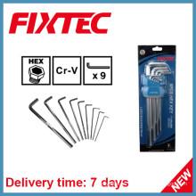 Fixtec Hand Tools 9PCS CRV llave hexagonal Set