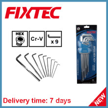 Fixtec Hand Tools 9PCS CRV Hex Key Wrench Set