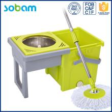 360 cleaning mop trolley,model Double Drivers mop