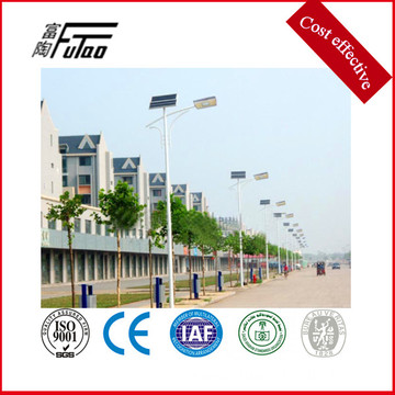 solar power steel street light pole price
