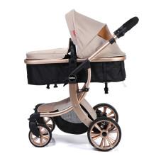 Landau 2 en 1 landau avec berceau réversible convertible et amortisseur pour bébé nouveau-né s'asseoir et dormir poussette