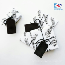 Free Sample Luxury Recycled Black Color Gift Paper Hang Tag With Logo
