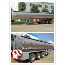 Oversea Exported Tri-Axles Stainless Steel Fuel Tanker Trailer