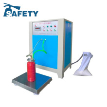 Manual abc dry powder fire figting foam extinguisher refilling machine
