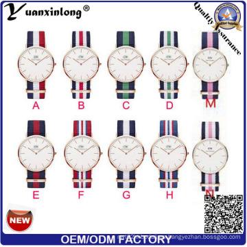 Yxl-600 2016 Nueva Hombre Moda Relojes Tipo Dw Nylon Nato Correa Relojes Hombre