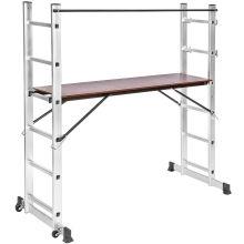Material de aluminio y escaleras industriales Tipo andamio plegable