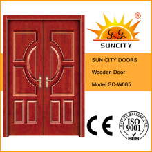 Wooden Commercial Exterior Double Doors