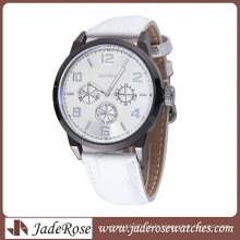 Montre femme en alliage simple avec bracelet en cuir