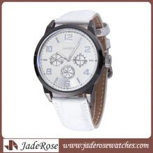 Простой сплав часы женские часы с Кожаный ремешок