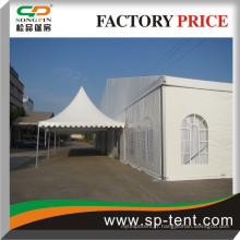 Tente de pagode combinée à jour et durable avec chapiteau de fête pour les mariages
