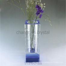Grand vase en cristal pour la faveur de mariage