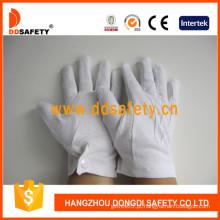 100% algodão de lixívia / luva de trabalho Interlock Mini pontos na palma (dch113)