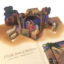 Kundenspezifische Größe! Richtige Preis Top-Qualität Weihnachten Grußkarte, 3d Grußkarte, handgemachte Grußkarte