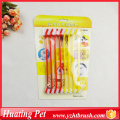 cat dog long toothbrush