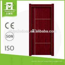 China fabricante interior puerta de melamina de madera con nuevo diseño