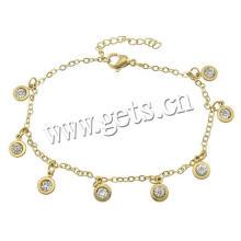 Gets.com bijoux en perle en anklet en acier inoxydable