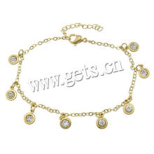 Gets.com stainless steel anklet feet jewelry