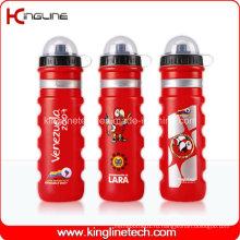 Пластичная бутылка воды спорта, пластичная спортивная бутылка, бутылка спортов 750ml (KL-6718)