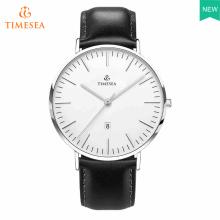 Relógio clássico dos homens com pulseira de couro preto 72637
