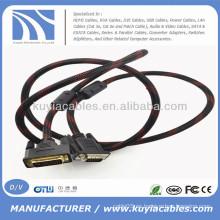 Varón de los 5ft DVI al cable masculino del VGA para la PC de DVD LCD HDTV