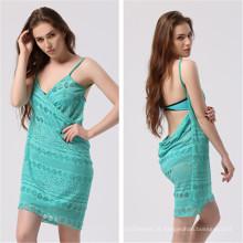 Sexy Lace Bikini Beach Wrap vestido (53014)