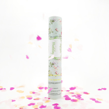 Tirador de lujo del confeti del favor de la boda 2017 con el corazón de papel para la celebración