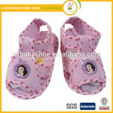 Tecido de algodão ar deslize linda sandália de bebê bonito