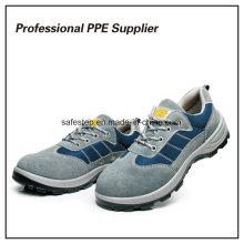 Zapatos de trabajo de seguridad de Ce de alta calidad de cuero genuino