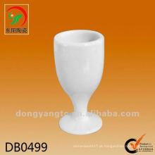 Novo produto 25cc branco mini copo de vinho de cerâmica