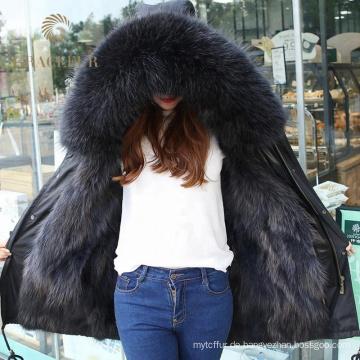 Vielzahl von Stilen Pelz gefütterte Gürtel Parka Jacke für Frauen Großhandel