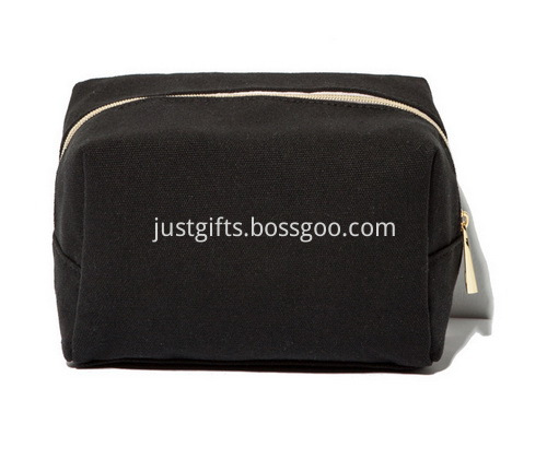 Custom Zippered Canvas Cosmetic Bags Bulk (3)