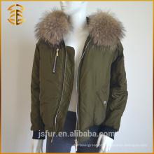 Fábrica de Abastecimento direto Mulheres Real Fox Genuine Fur Parka