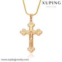 32161-Xuping Jóias Moda Ouro Religião Pingente Com Cruz