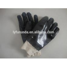 10,5 Zoll PVC Handschuhe, doppelt getaucht, sandig finishi