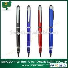 2 en 1 bolígrafo de bolígrafo de metal