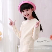 high quality computer knitted kids model roll edges sweater pullover