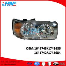 Caminhão de lâmpada de cabeça DAF Manual de peças 1641742 1641743